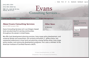 Evans-LLC  new web site launches